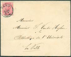 N°38 - 10 Centimes Rose Obl. Sc GAND Sur Enveloppe Du 4 Nov. 1884 Vers La Ville  - 12115 - 1883 Léopold II