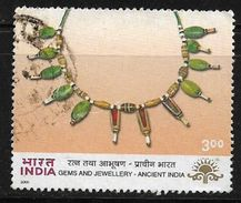 India 2000 INDIPEX-ASIANA International Stamp Exhibition Gems & Jewellery Ancient India Used Stamp # AR:154 - India
