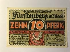 Allemagne Notgeld Furstenberg 10 Pfennig - [ 3] 1918-1933 : République De Weimar