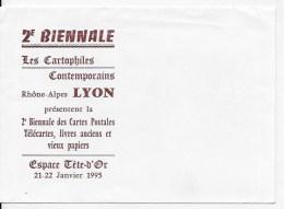 Enveloppe Biennale Les Cartophiles Lyon 1995 - Other