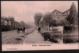 DD1890  FRANCE  BERNAY BOULEVARD DUBUS ANIMEE RARE    POSTCARD - Bernay