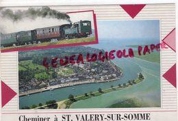 80 - SAINT VALERY SUR SOMME - VUE AERIENNE  LE PETIT TRAIN - Saint Valery Sur Somme