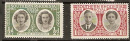 Southern Rhodesia 1947 SG 62-3. 1/2d, 1d Mounted Mint - Southern Rhodesia (...-1964)