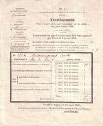 MAINE ET LOIRE - ANGERS - TARIF COMMUNAL POUR L' ETABLISSEMENT DE LA TAXE SUR LES CHIENS - 1856 - France