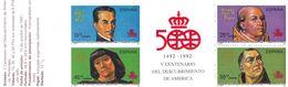 WIT572  SPANIEN 1991  MICHL  3011/14  MARKENHEFT 7 ** Postfrisch  SIEHE ABBILDUNG - 1991-00 Ungebraucht