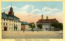 Saarbrücken - Schlossplatz Mit Rathaus Und Kreishaus (001239) - Saarbrücken