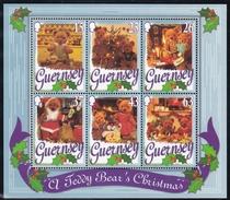 Guernsey, 1997, 747/52 Block 20, CHRISTMAS, TEDDYBÄREN, TEDDY BEARS,  MNH ** - Guernsey