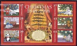 Guernsey, 1998, 786/91 Block 22, Christmas,  MNH ** - Guernsey