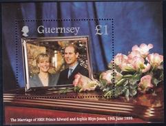 Guernsey, 1999, 812 Block 23, Hochzeit Edward/Sophie.  MNH ** - Guernsey