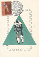 D31423 CARTE MAXIMUM CARD 1960 SAN MARINO - CYCLING RACING OLYMPICS CP ORIGINAL - Cycling