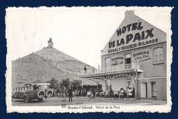 Braine-l' Alleud. Hôtel De La Paix. Propr. Ida Bilande Et Son Mari Anatole Héraly. Butte Du Lion De Waterloo. 1947 - Braine-l'Alleud