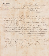 Amsterdam, W.F. Brandon, Demande De Prix Pour 50 Caisses De 12 Bouteilles De Cognac, 1881 - Netherlands
