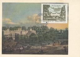 D31427 CARTE MAXIMUM CARD 1967 POLAND - PALACE AT WILANOW WARSZAWA CP ORIGINAL - Altri