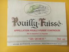 4855 - Pouilly-Fuissé Lea Quarts André Auvigne - Etiquettes