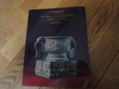 Catalogue De Ventes SOTHEBY'S London 1993-Fine Chinese Bronzes, Céramics And Works Of Art. - Autres