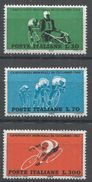 Italy 1962. Scott #857-9 (MNH) World Bicycle Championship Races - 6. 1946-.. Republic