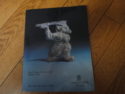 Catalogue De Ventes Christie's New York 1988-Fine Chinese, Céramics And Works  Of Art - Books, Magazines, Comics