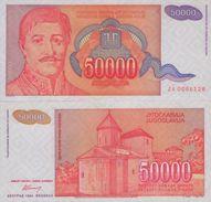 YUGOSLAVIA 50000 Dinara 1994 P-142 UNC  ZA ( Replacement ) RARE - Yugoslavia