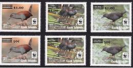 Cook Islands 2017 - WWF Birds Spotless Crake - Complete Serie Overprint (6 Values) - Cook