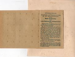 CARTE D'ALIMENTATION) 1914-1918 -DOCUMENT COMPLET ET NEUF -CATEGORIE E CARTE INDIVIDUELLE MINISTERE AGR ET RAVITAILLMENT - Documentos Históricos