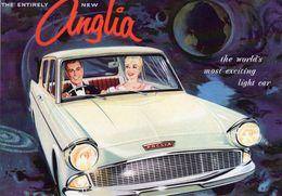 Ford Anglia  -  1959  -   Vintage Advertising Postcard   -  CPM - Voitures De Tourisme