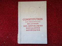 Constitution (Loi Fondamentale) De L'union Des Républiques Socialistes Soviétiques / De 1956 - Livres, BD, Revues