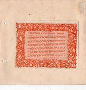 RATIONNEMENT 1914-1918) CARTE INDIVIDUELLE D'ALIMENTATION  CATEGORIE  J- MODE D'UTILISATION-CARTE ET TALONS -RARE - Alimentos