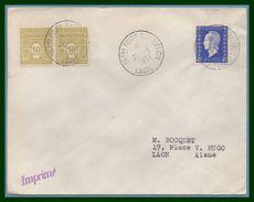Bureau Temporaire BT Foire Exposition Laval 1951  / N° 695 + 623 Voy TB - Postmark Collection (Covers)