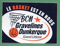 BASKET CLUB GRAVELINES DUNKERQUE - SPORT /  AUTOCOLLANT - Autocollants
