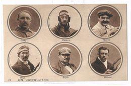 France CPA Circuit Automobile Lyon 1914 Neuve Pilotes Duray Elscamp Gabriel Goux Guyot Guiness - Otros