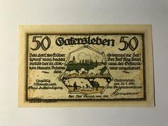 Allemagne Notgeld Gatersleben 50 Pfennig - [ 3] 1918-1933 : Weimar Republic