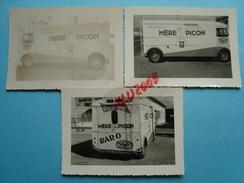 """17 - Saint Félix - 3 Photos 7 X 9cm - Camion Des Fromages """"Mère Picon"""" - France"""
