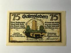 Allemagne Notgeld Gatersleben 75 Pfennig - [ 3] 1918-1933 : Weimar Republic