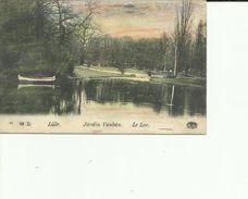 CPA LILLE JARDIN VAUBAN LE LAC  48 - Lille