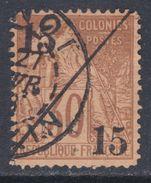 Cochinchine N° 5 O Timbres Des Colonies Françaises Surchargés : 15 + 15 Sur 30 C. Brun, Oblitération Moyenne Sinon TB - Gebraucht