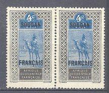 Soudan: Yvert N°22/22a*; Cote Maury 25€ Se Tenant - Soudan (1894-1902)
