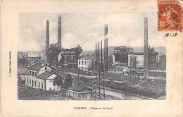 METIERS Industrie - 54 - POMPEY : Usine Et Gare - CPA - Usine Entreprise Fabrik Fabriek Factory Industry - Industrie