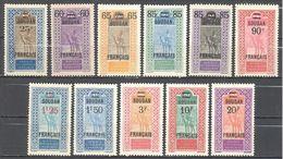 Soudan: Yvert N°42/52*; Cote 88.00€ - Soudan (1894-1902)