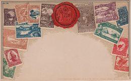 Philatelie Litho AK New Zealand Neuseeland Nouvelle Zélande Briefmarke Stamp Timbre Wappen Shillings Pence Revenue - New Zealand