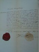 AD037.17  Old Document -  Gyula Antolovits - Ilona Kosztits Budapest Tabanban 1876 - Fiançailles