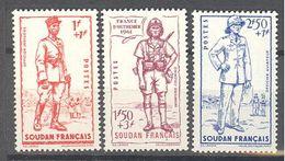 Soudan: Yvert N°122/124*; Cote 4.50€ - Soudan (1894-1902)