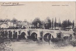 CPA Carte Postale CONFOLENS Vieux Pont Cassan Mr Bouriaud Facteur Télégraphiste Alloue Charente - Angouleme