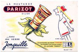 Buvard Moutarde Parizot. - Moutardes