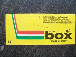 CATALOGO / PIEGHEVOLE  BOX MODEL AUTOMODELLI IN SCALA 1/43  1988  FERRARI - Catalogues