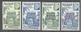 Soudan: Yvert N°129/130* + 133/4*; Cote 3.20€ - Soudan (1894-1902)