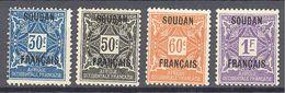 Soudan: Yvert Taxe N°5/8*; Adhérences; Cote 7.70€ - Soudan (1894-1902)