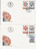 5645FM- ATLANTA'96, MODERN OLYMPIC GAMES CENTENARY, COVER FDC, 2X, 1996, ROMANIA - Zomer 1996: Atlanta