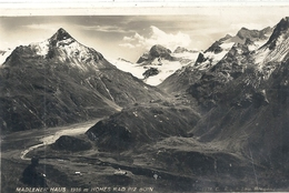 MADLENER HAUS. 1986m . HOHES RAD PIZ BUIN . CARTE-GLACEE AFFR AU VERSO LE 19 VII 1934 . 2 SCANES - Gaschurn