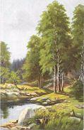 ILLUSTRATEUR  PRESENT  - CPA  COLORISEE -  Paysage En Foret  -  ROY171  - - Künstlerkarten