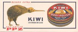 France Buvard Cirage Kiwi ( Pliure, Auréole ) 20,5 Cm X 9 Cm - Blotters